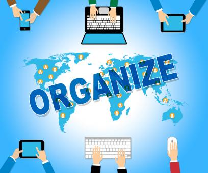 Free Stock Photo of Organize Online Means Web Site And Arranged