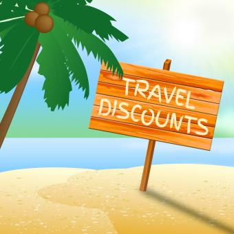Free Stock Photo of Travel Discounts Means Promo Trip 3d Illustration