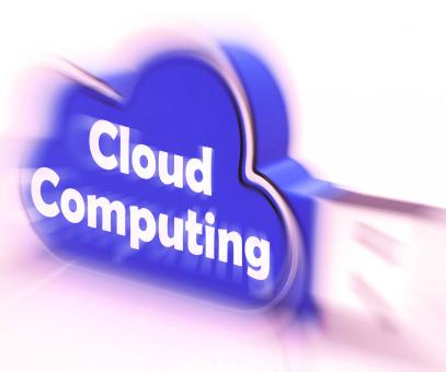 Free Stock Photo of Cloud Computing Cloud USB drive Shows Digital Services And Online Back