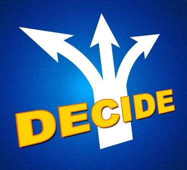 Free Stock Photo of Decide Arrows Indicates Vote Indecisive And Choice