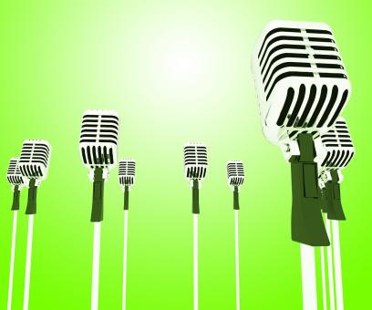 Free Stock Photo of Microphones Mics Shows Musical Group Or Concert