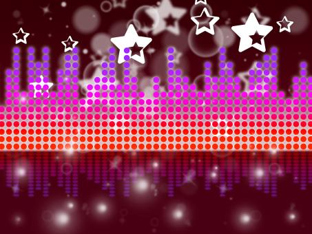 Free Stock Photo of Soundwaves Background Shows Music Singing And Melody