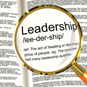 Free Stock Photo of Leadership Definition Magnifier Showing Active Management And Achievem