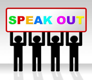 Free Stock Photo of Speak Out Indicates Say Your Mind And Attention