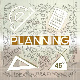 Free Stock Photo of Planning Words Represents Mission Plans And Objectives