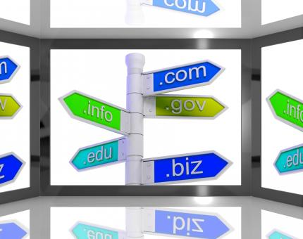 Free Stock Photo of Domains On Screen Showing Internet Domains