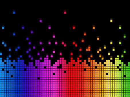 Free Stock Photo of Rainbow Soundwaves Background Means Musical Playing Or DJ