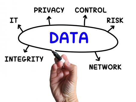 Free Stock Photo of Data Diagram Means Information Privacy And Integrity