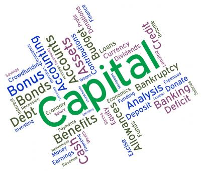 Free Stock Photo of Capital Word Represents Resources Prosper And Riches