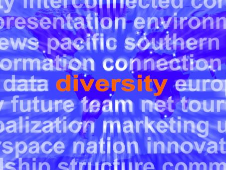 Free Stock Photo of Diversity Word Cloud Shows Multicultural Diverse Culture