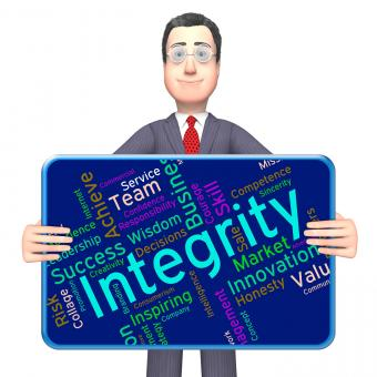 Free Stock Photo of Integrity Words Means Sincerity Decency And Righteousness