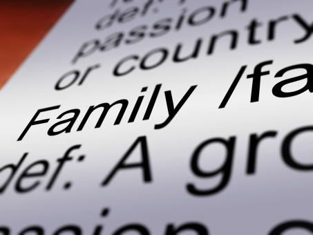 Free Stock Photo of Family Definition Closeup Showing Mom Dad Unity