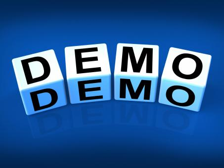 Free Stock Photo of Demo Blocks Indicate Demonstration Test or Try-out a Version