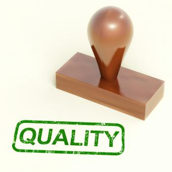 Free Stock Photo of Quality Stamp Showing Excellent Products