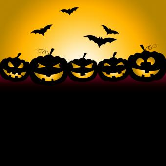 Free Stock Photo of Bats Halloween Indicates Trick Or Treat And Celebration