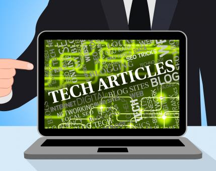 Free Stock Photo of Tech Articles Shows News Computer And Digital