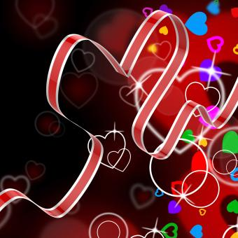 Free Stock Photo of Ribbon Heart Shows Celebration Decorative Or Festive Decorations