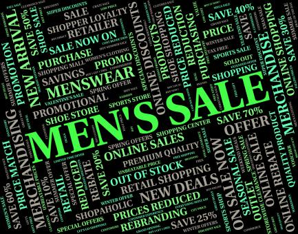 Free Stock Photo of Mens Sale Indicates Reduction Closeout And Discounts