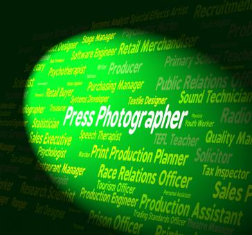 Free Stock Photo of Press Photographer Indicates Investigative Journalist And Career