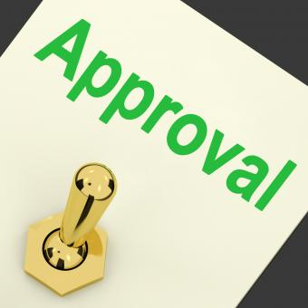 Free Stock Photo of Approval Switch Shows Approved Passed or Verified