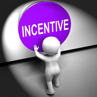 Free Stock Photo of Incentive Pressed Means Bonus Reward And Motivation