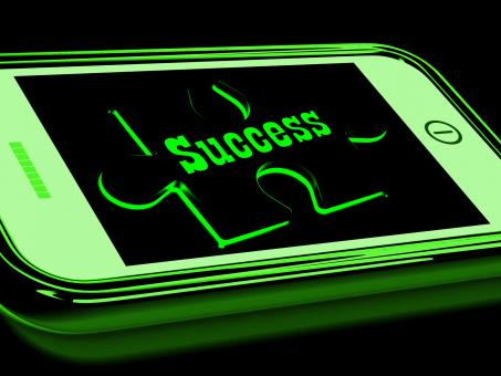Free Stock Photo of Success On Smartphone Shows Progression