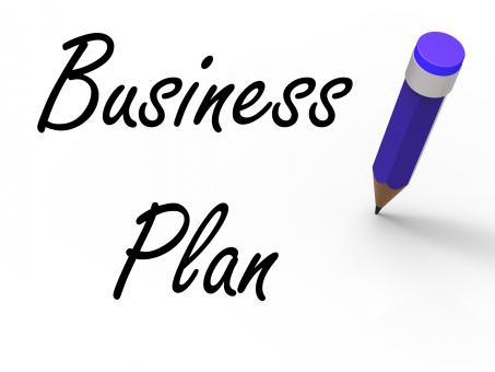 Free Stock Photo of Business Plan with Pencil Shows Written Strategy Vision and Goal