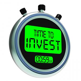 Free Stock Photo of Time To Invest Message Showing Growing Wealth And Savings