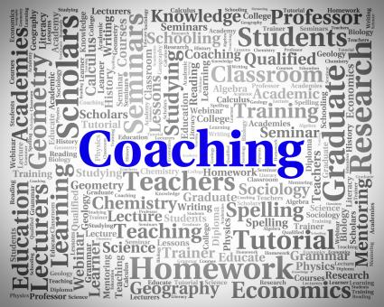 Free Stock Photo of Coaching Word Means Give Lessons And Seminar