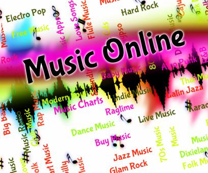 Free Stock Photo of Music Online Shows World Wide Web And Harmonies