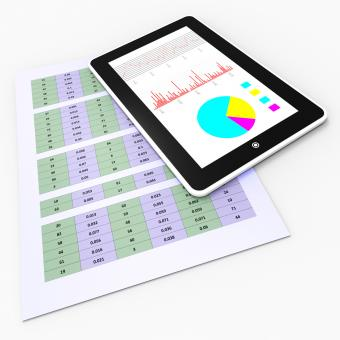 Free Stock Photo of Online Reports Means Tablet Pc And Charting