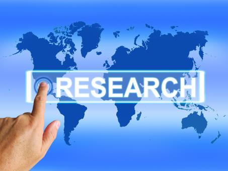 Free Stock Photo of Research Map Represents Internet Researcher or Researched Analyzing