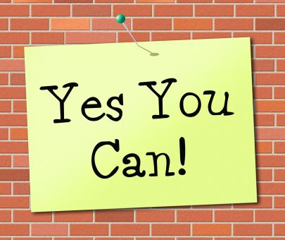 Free Stock Photo of Yes You Can Means All Right And Agree