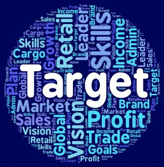 Free Stock Photo of Target Word Represents Desired Result And Aim