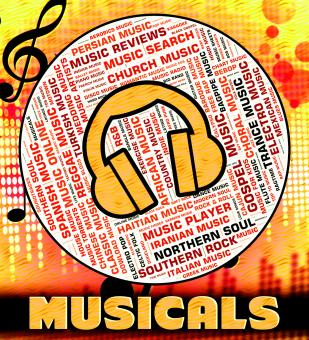 Free Stock Photo of Musicals Word Represents Sound Tracks And Audio
