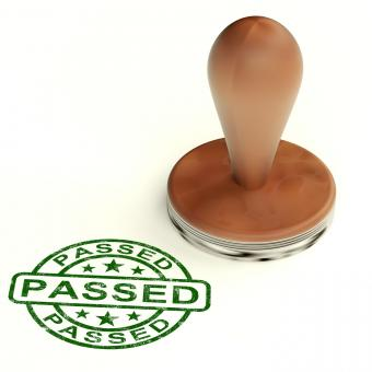 Free Stock Photo of Passed Stamp Shows Quality Control Approved Product