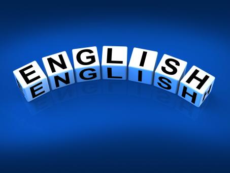 Free Stock Photo of English Blocks Refer to Speaking and Writing Vocabulary from England
