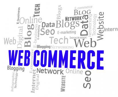 Free Stock Photo of Web Commerce Means Wordclouds Ecommerce And Selling