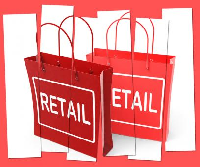Free Stock Photo of Retail Shopping Bags Show Commercial Sales and Commerce