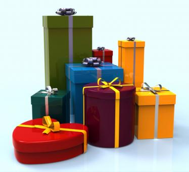 Free Stock Photo of Celebration Giftboxes Indicates Cheerful Greeting And Package