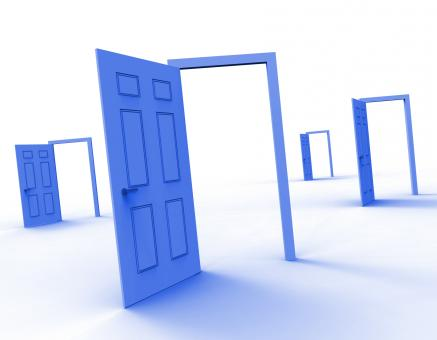 Free Stock Photo of Doors Choice Means Doorway Alternative And Decide