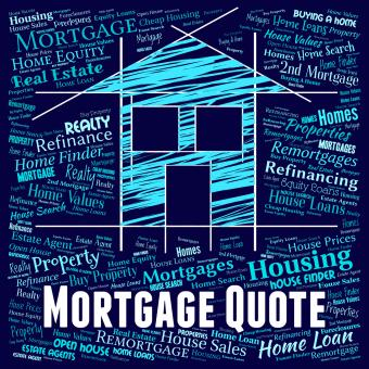 Free Stock Photo of Mortgage Quote Indicates Real Estate And Borrow