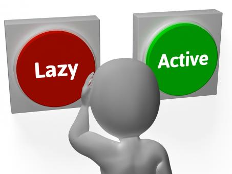 Free Stock Photo of Lazy Active Buttons Show Lethargic Or Effort