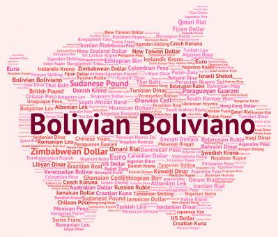 Free Stock Photo of Bolivian Boliviano Indicates Exchange Rate And Banknotes