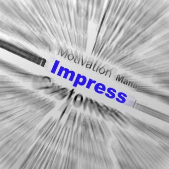Free Stock Photo of Impress Sphere Definition Displays Satisfactory Impression Or Excellen