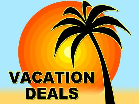 Free Stock Photo of Vacation Deals Shows Getaway Discount And Sale
