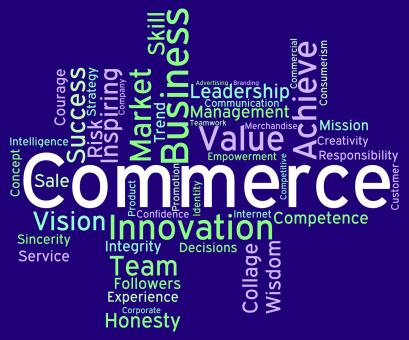 Free Stock Photo of Commerce Words Represents Sell Trade And E-Commerce