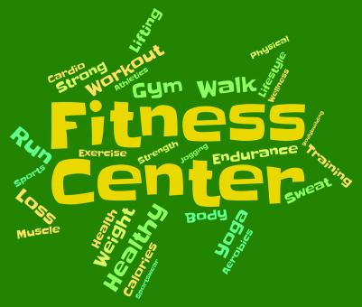 Free Stock Photo of Fitness Center Means Train Words And Athletic