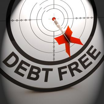 Free Stock Photo of Debt Free Shows Cash And Credit Freedom