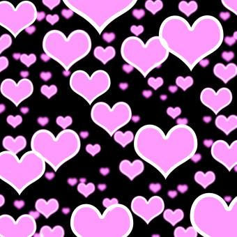 Free Stock Photo of Lilac Hearts Bokeh Background On Black Showing Love Romance And Valent